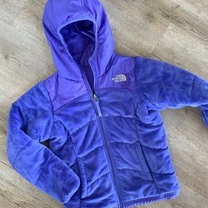 Girls North Face reversible winter coat